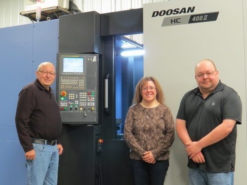 "Doosan HC400II Horizontal Mill w/ (2) 16"" Rotating Pallets 1,200 PSI Thru-Spindle Coolant, 60 Tool Magazine, Full 4th Axis New 2016"