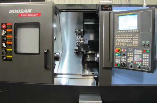 "Two Doosan Lynx 220LSYC CNC Lathes, Live Tooling, Multi-Axis, Multi-Spindle, Y & C Axis, 2-5/8"" Capacity"