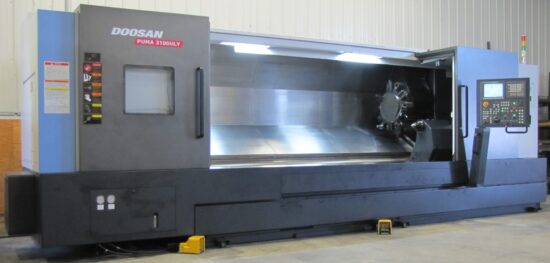 Doosan Puma 3100ULY CNC Lathe, 10 Feet Of Turning Length, Live Tooling, Y & C Axis